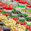 Stock Photo: Display of fruits in a french market