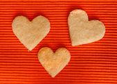 миндальное печенье в семье — Стоковое фото