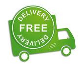 Camión de reparto gratis — Vector de stock