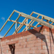 Stock Photo: Construction house - roof