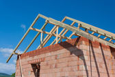 Construction house - roof — Stock Photo