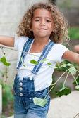 Cute little girl gardening — Stock Photo