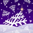 Stock Photo: Christmas night snowflakes
