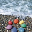 Pebble rainbow — Stock Photo