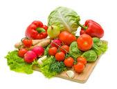 Grönsaker. fräsch och mogen grönsaker närbild. — Stockfoto