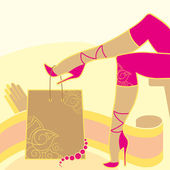 Woman legs and accessories — Stock Vector