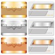 Stock Vector: Metal cards