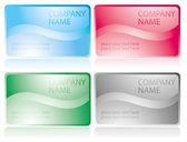 光沢のあるビジネス カードのセット — ストックベクタ