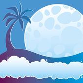 Tropical night — Stock Vector