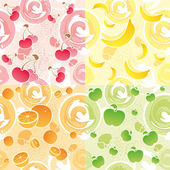 Fruit texture — Stock Vector
