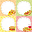 Fast food backgrounds — Stock Vector