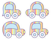 Pastel cars — Stock Vector