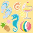 Summer elements — Imagen vectorial