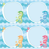 Backgrounds of seahorses — Stock Vector