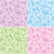 Birthday patterns — Vector de stock