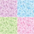 Birthday patterns — Vector de stock  #6166363