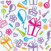 γενέθλια μοτίβο — Διανυσματικό Αρχείο