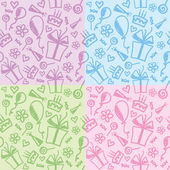 Birthday patterns — Stockvector