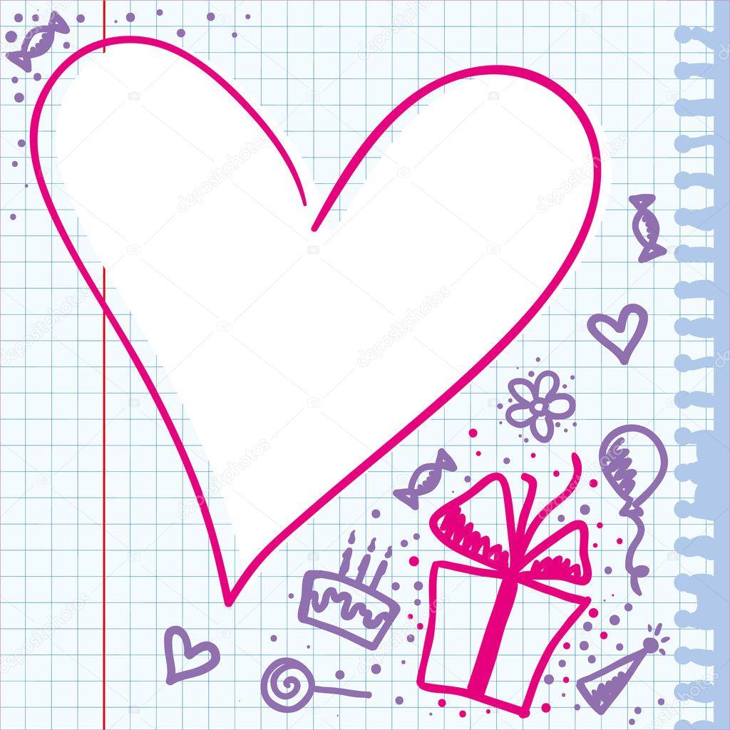 Рисунок открытки с днем рождения своими руками