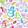 Christmas pattern — Image vectorielle