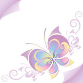 Beautiful butterfly — Stock Vector