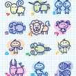 Royalty-Free Stock Vectorafbeeldingen: Zodiac signs