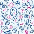 Vector de stock : Music pattern