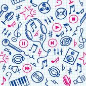 Music pattern — Stock Vector