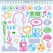 Music signs — Stock Vector