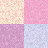 Patterns with hearts — Stock Vector