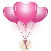 Pink balloons — Stock Vector