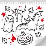 Set of halloween elements — Stock Vector