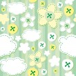 Green seamless pattern — Stockvektor