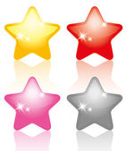 Set of stars — Stock Vector