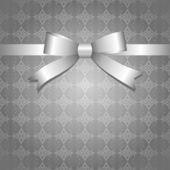 Silver bow — Stock Vector