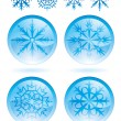 Set of snowflakes — Vettoriali Stock