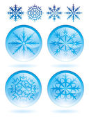 Set of snowflakes — Stock Vector