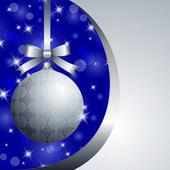 Xmas silver ball — Stock Vector