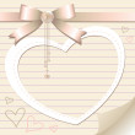Romantic frame — Stock Vector