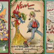 Stock Photo: Vintage Postcard Background Strip