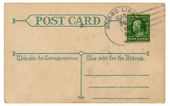 Vintage Postcard Back — Stock Photo