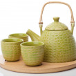 Traditional asian tea set — Stock Photo