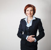 Redhead businesswoman — Stock Photo
