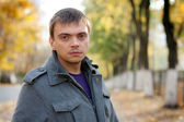 Portrait of a young man with a keen eye — Stock Photo