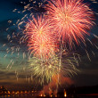 Brightly colorful fireworks in the night sky — Stock Photo #5913451