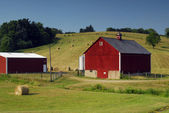 Farmland Red Barn — Stock Photo