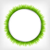 Circle With Grass — Stock Vector