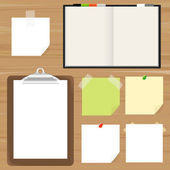 Clipboard And Reminder Note — Stock Vector