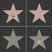 Fame stjärnor — Stockvektor