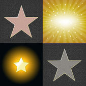 Different Stars — Stock Vector